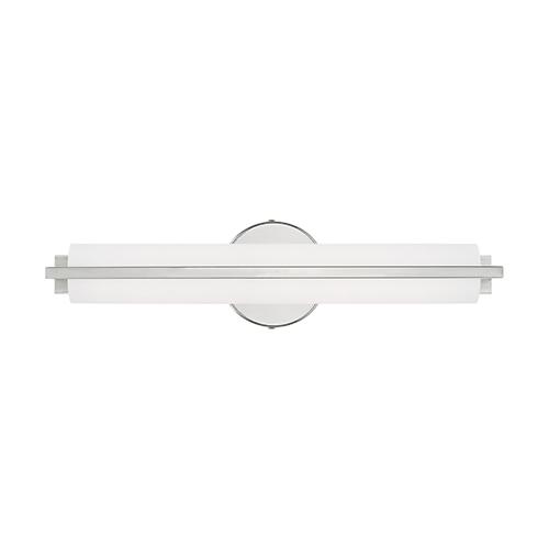 Livex Lighting Visby Polished Chrome 4-Inch ADA Bath Vanity with Satin White Acrylic Shade