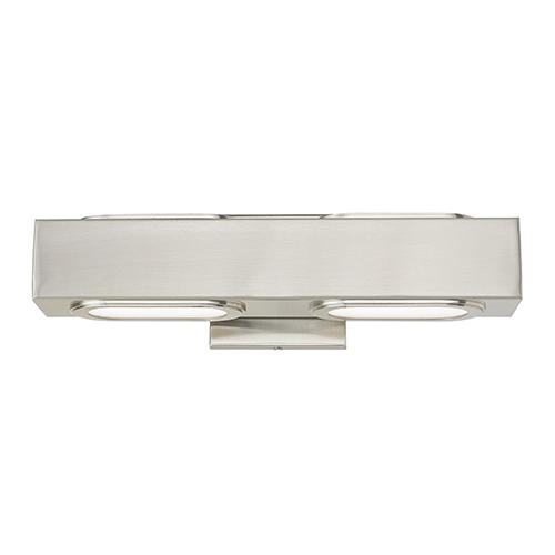 Livex Lighting Kimball Brushed Nickel 16-Inch ADA Bath Vanity with Satin Glass Diffuser