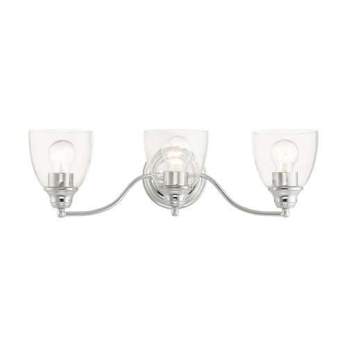 Montgomery Polished Chrome Three-Light Bath Vanity Sconce