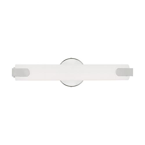Lund Polished Chrome 4-Inch ADA Bath Vanity with Satin White Acrylic Shade