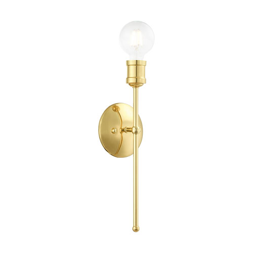 Lansdale Polished Brass One-Light  Wall Sconce