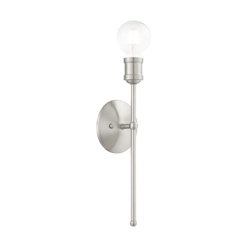 Lansdale Brushed Nickel One-Light  Wall Sconce