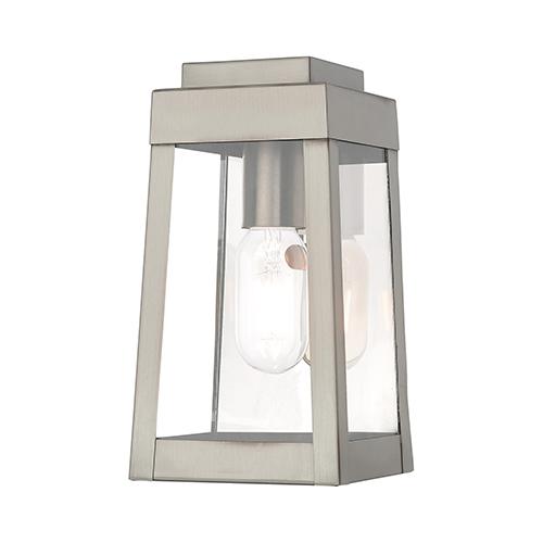Oslo Brushed Nickel 5-Inch One-Light Wall Lantern