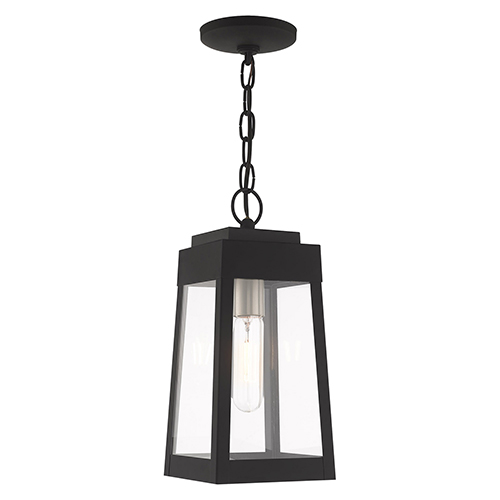 Oslo Black 6-Inch One-Light Pendant Lantern