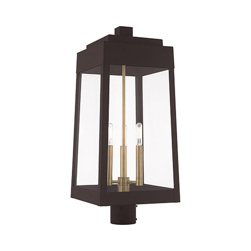 Oslo Bronze Three-Light Post Top Lantern