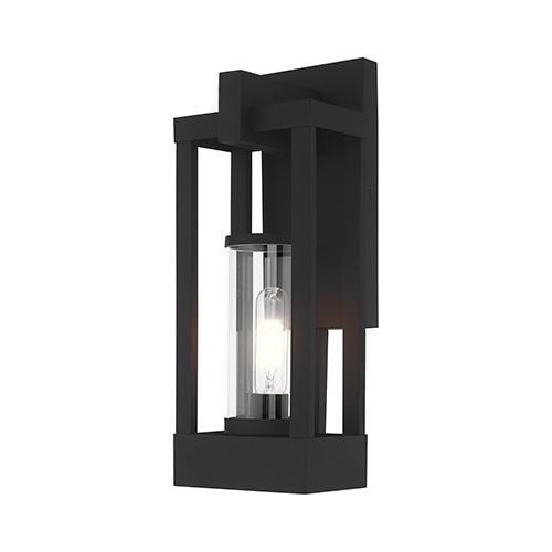 Delancey Black 16-Inch One-Light Outdoor Wall Lantern