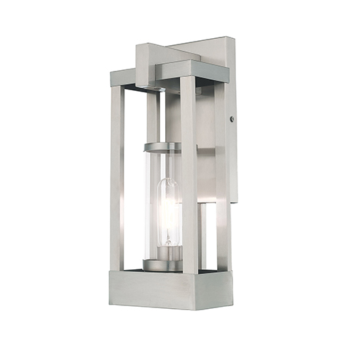 Delancey Brushed Nickel 16-Inch One-Light Outdoor Wall Lantern