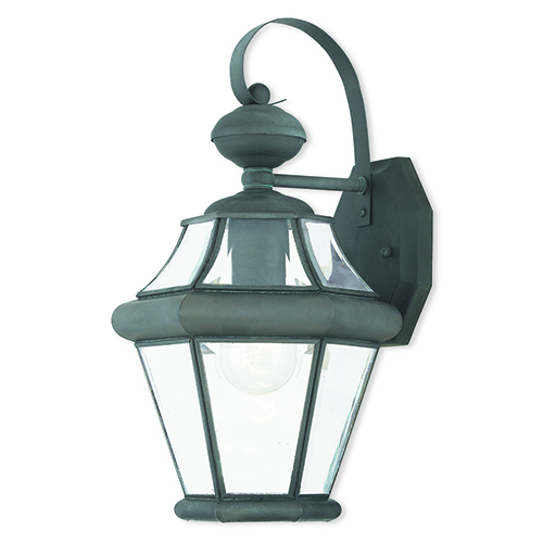 Livex Lighting Georgetown Charcoal One-Light Outdoor Wall Sconce