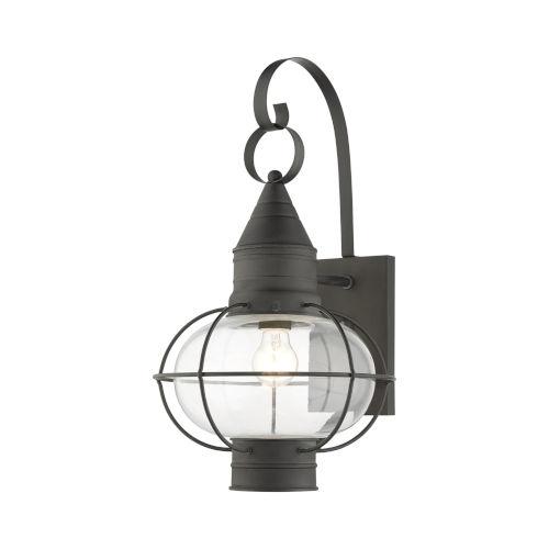 Newburyport Charcoal 11-Inch One-Light Outdoor Wall Lantern