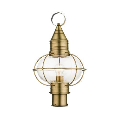 Newburyport Antique Brass 11-Inch One-Light Outdoor Post Lantern