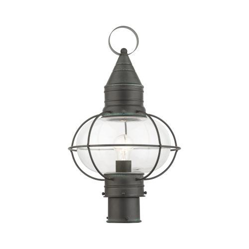 Newburyport Charcoal 11-Inch One-Light Outdoor Post Lantern