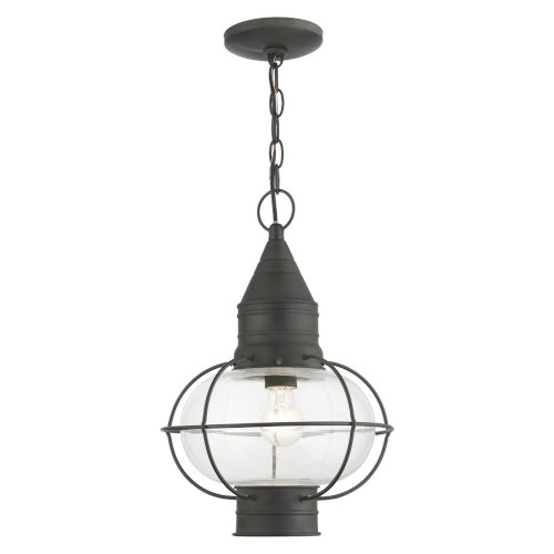 Newburyport Charcoal 11-Inch One-Light Outdoor Pendant