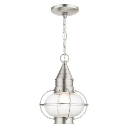 Newburyport Brushed Nickel One-Light Outdoor Pendant