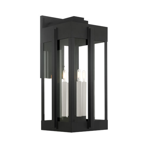 Lexington Black Four-Light Outdoor Wall Lantern