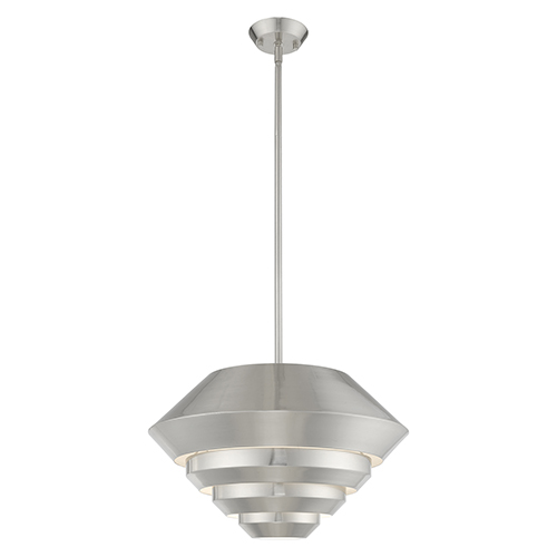 Amsterdam Brushed Nickel Mini Pendant