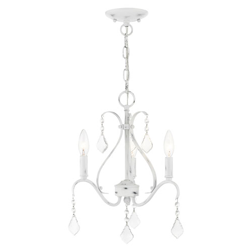 Caterina Antique White Three-Light Chandelier