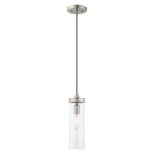Art Glass Mini Pendants Brushed Nickel 5-Inch One-Light Mini Pendant