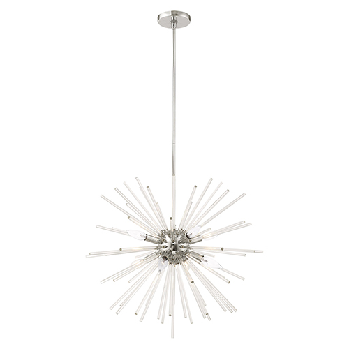 Utopia Polished Chrome Eight-Light Pendant Chandelier