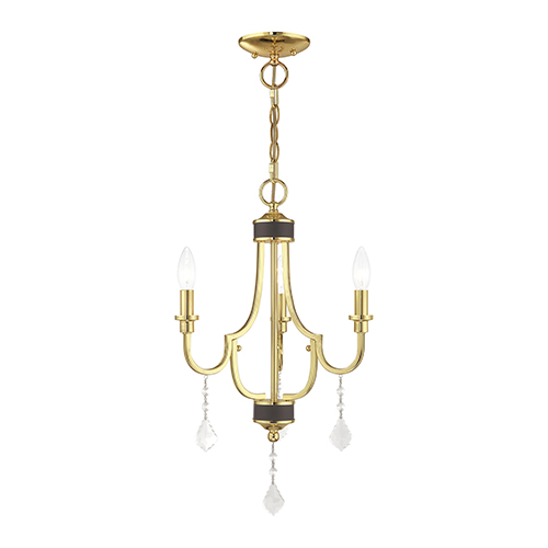 Glendale Polished Brass Three-Light Mini Chandelier