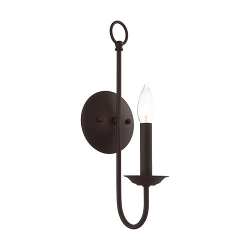 Estate Bronze One-Light Wall Sconce