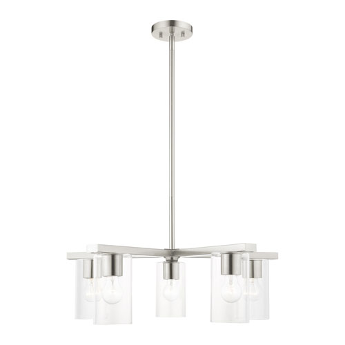 Zurich Brushed Nickel Five-Light Chandelier