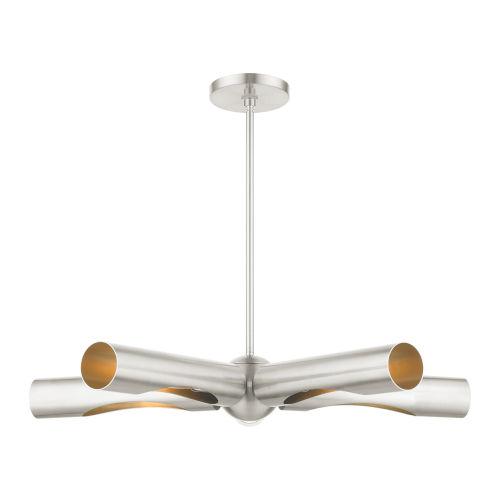 Novato Brushed Nickel Five-Light Chandelier
