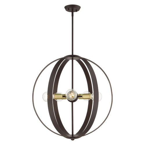 Modesto Bronze Five-Light Chandelier