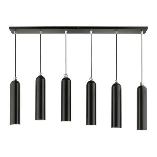 Ardmore Shiny Black Six-Light Linear Pendant