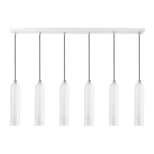 Ardmore Shiny White Finish Six-Light Linear Pendant