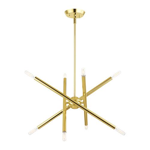 Soho Polished Brass 20-Inch Eight-Light Chandelier