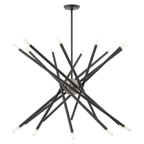 Soho Scandinavian Gray 20-Light Chandelier