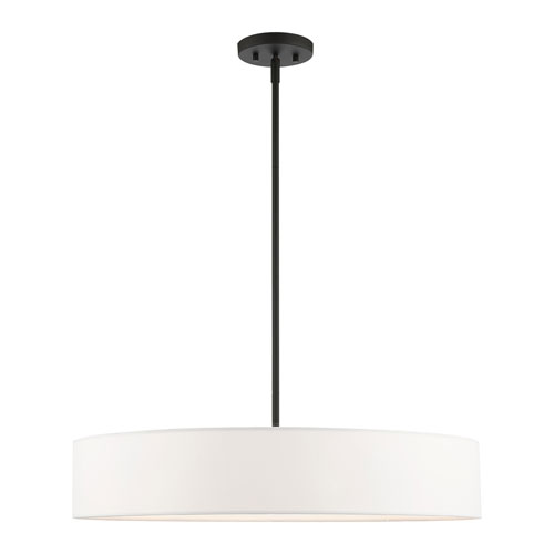 Venlo Black and Brushed Nickel 26-Inch Five-Light Pendant