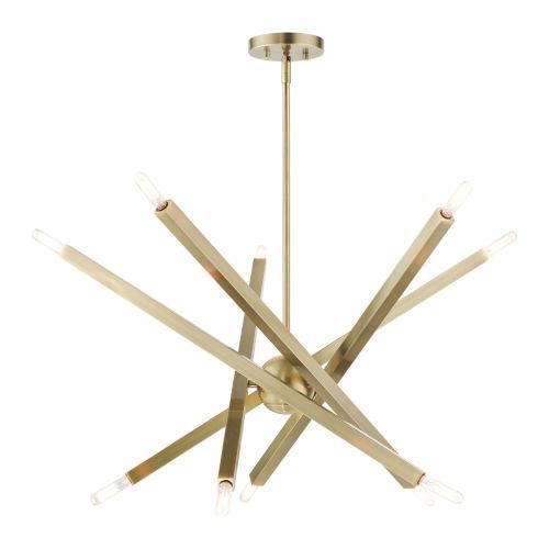 Monaco Antique Brass 10-Light Chandelier