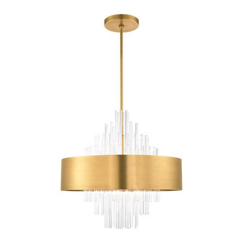 Orenburg Natural Brass 10-Light Pendant