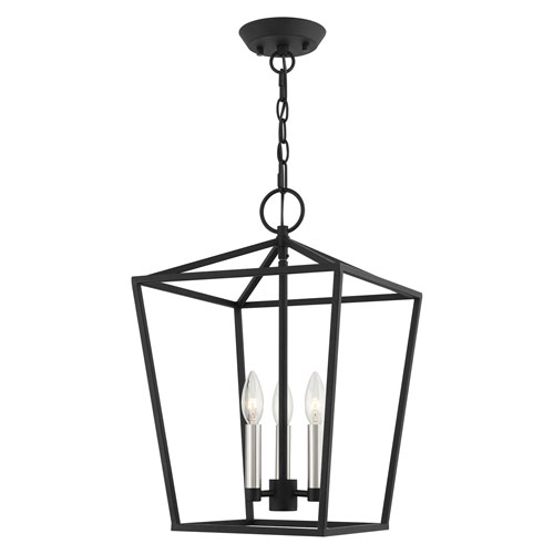 Devonshire Black 13-Inch Three-Light Convertible Pendant