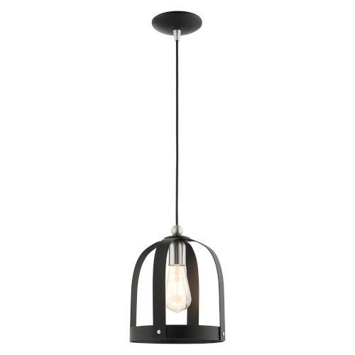 Stoneridge Textured Black One-Light Mini Pendant