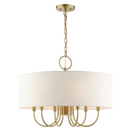 Blossom Antique Brass Seven-Light Chandelier