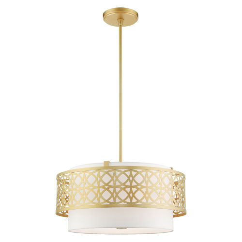 Calinda Soft Gold Four-Light Chandelier