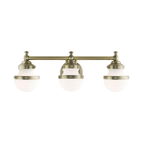 Oldwick Antique Brass Three-Light Bath Vanity