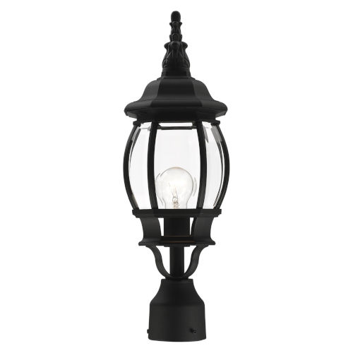 Frontenac Textured Black One-Light Outdoor Post Lantern