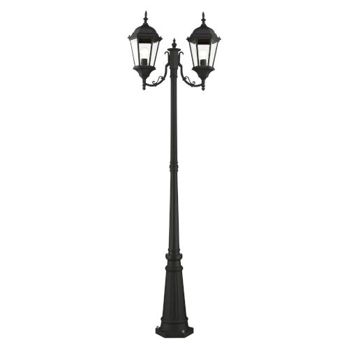 Hamilton Textured Black Two-Light Outdoor Post Lantern