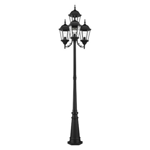 Hamilton Textured Black Four-Light Outdoor Post Lantern