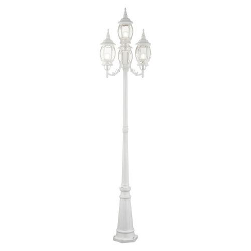 Frontenac Textured White 24-Inch Four-Light Outdoor Post Lantern