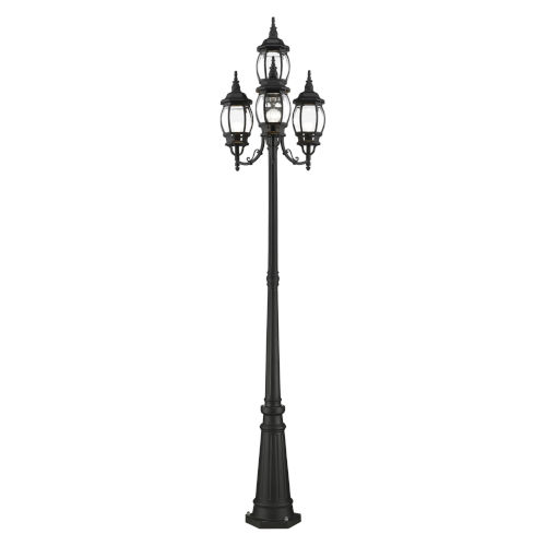 Frontenac Textured Black 24-Inch Four-Light Outdoor Post Lantern