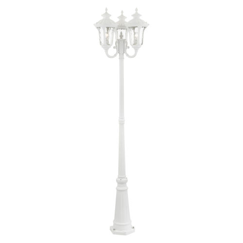 Oxford Textured White 23-Inch Three-Light Outdoor Post Lantern