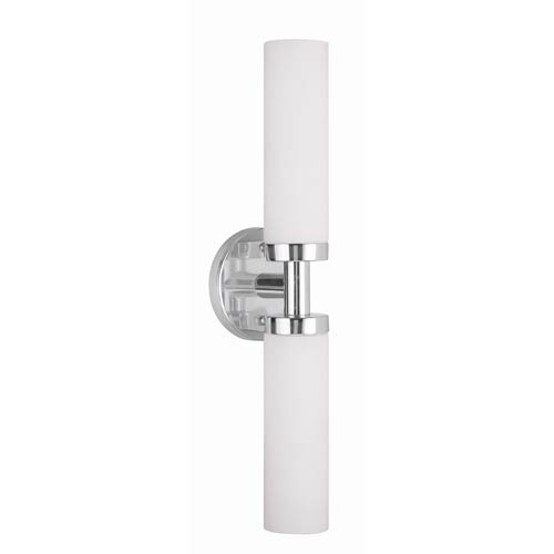 Aero Chrome 4.5-Inch Two-Light Bath Fixture with Bar Connector
