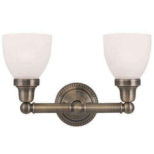 Livex Lighting Classic Antique Brass Two Light Bath Light