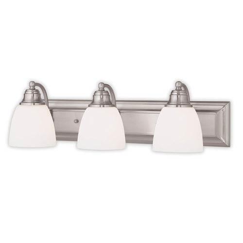 Springfield Brushed Nickel Three-Light 24-Inch Bath Vanity