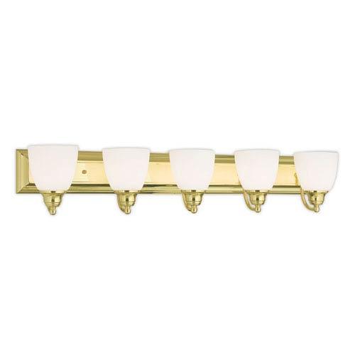 Springfield Polished Brass 36-Inch Five-Light Bath Light