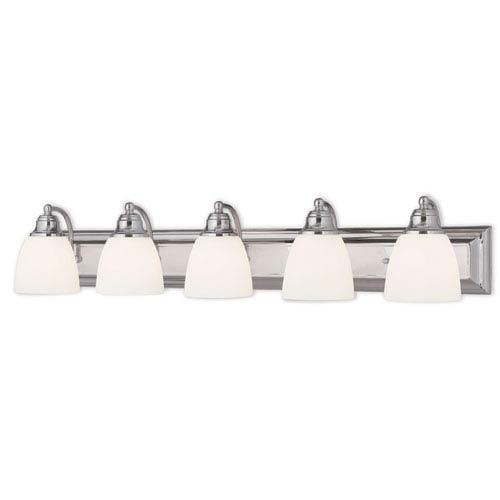 Springfield Chrome 36-Inch Five-Light Bath Light